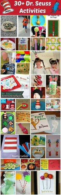 30+ Dr. Seuss Activites Recipes Crafts School Family Birthday http://timeforseason.blogspot.com/2014/02/30-dr-seuss-activites.html