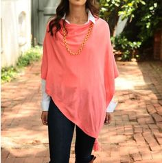 Wear this fabulous Fornash Colette Poncho every day of the year.  With its great color options that work with any outfit, it's an accessory must that's perfect season to season.