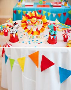 Circus Birthday Party Kids Table