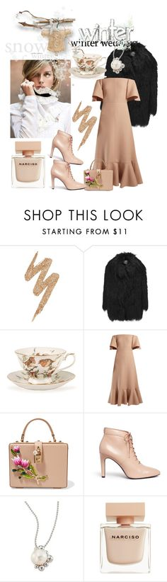 """January 25,2017"" by anny951 ❤ liked on Polyvore featuring Urban Decay, AINEA, Zara, Valentino, Dolce&Gabbana, Opening Ceremony, Anzie and Narciso Rodriguez"