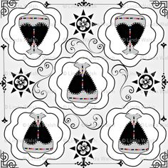 Linda Walsh Originals Fabric Designs: Victorian Gray and White Dress Fabric - New Fabric