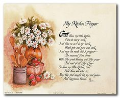 Complement your country kitchen décor with this wonderful my kitchen prayer kitchen picture art print poster. This contemporary style kitchen prayer wall poster is sure to brighten up your space with its refreshing colors and classic look. It will be a perfect addition for a country kitchen. It would also make a fabulous gift for your family and friends.
