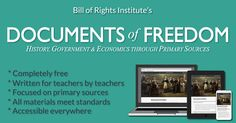 Documents of Freedom   An amazing resource for social studies & US History   A comprehensive digital course on History, Government & Economics   Easily search for primary-source focused resources that fit seamlessly into your teaching plans.