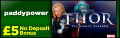 Paddy Power Casino now offer you Marvel's Thor The Mighty Avenger slot game – find out how to get £5 completely free to play the game: http://www.casinomanual.co.uk/5-completely-free-play-marvels-thor-mighty-avenger-slot/