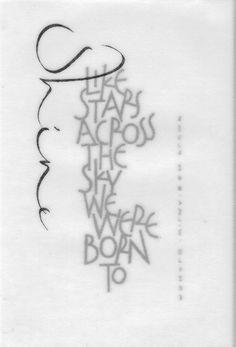 Like stars across the sky we were born to shine