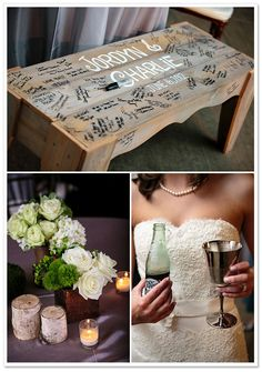 I like the bench. I think it'd be a great idea for my cousins wedding.