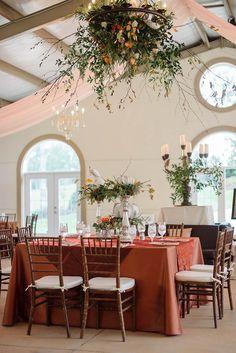 Wedding floral goodness // photo by Jennie Andrews + florals by Samuel Franklin #weddingflorals #receptiondecor #southernwedding #castletonfarms