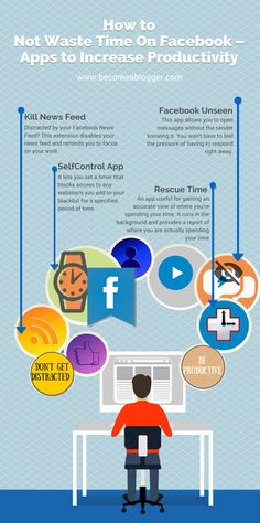 How To Not Waste Time On Facebook - Apps to Increase Productivity | Become A Blogger http://www.becomeablogger.com/21153/how-to-not-waste-time-on-facebook-apps-to-increase-productivity/?utm_content=buffera60ec&utm_medium=social&utm_source=pinterest.com&utm_campaign=buffer