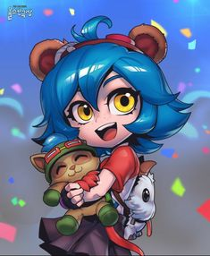 Annie League Of Legends, Anime Blue Hair, Aldnoah Zero, Poses References, Painting Studio, Magical Girl, Art Sketches, Character Design, Character Art