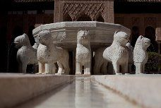 The Court of the Lions Fountain  in the Alhambra in Granada Spain.  We were there on our honeymoon.