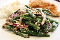 My new favorite salad! Green Bean, Walnut, & Feta Salad; in the Southern Living Recipe Hall of Fame.