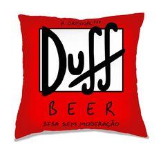 Capa de Almofada Cerveja Duff Beer.