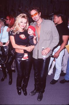 ~Brandon and his brother Dylan (who was not present) are Pamela's sons by her first husband, Tommy Lee, to whom she was married from 1995 to 1998. Description from lifeandstylemag.com. I searched for this on bing.com/images
