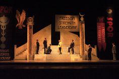 Julius Caesar (HSF 2008) - Scenic Design by Jonathan Mark Middents.