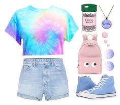 """Untitled #3"" by depressed-lollipop ❤ liked on Polyvore featuring ban.do, GRLFRND, Skinnydip, Converse, Anya Hindmarch and Topshop"