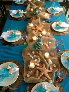 Beach themed party - 26 DIY Under the Sea Mermaid Party Ideas – Beach themed party Beach Bridal Showers, Mermaid Baby Showers, Beach Shower, Baby Shower Mermaid Theme, Beach Wedding Favors, Wedding Table, Wedding Ideas, Wedding Card, Wedding Themes