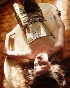 gold sequin jumper--we love it!