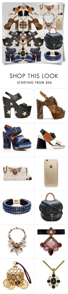 """""""Tree of sandals."""" by imbeauty ❤ liked on Polyvore featuring STELLA McCARTNEY, Ash, See by Chloé, Marni, Gucci, Rifle Paper Co, Only Child, Maison Margiela, Marchesa and Erickson Beamon"""