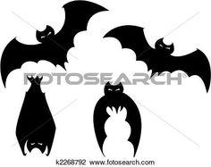 Bat Template  VampireBatSilhouetteForHalloween