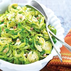 Shaved Brussels Sprouts with Pancetta - Wegmans