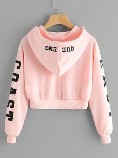 Abigail East Coast Pink Cropped Hoodie Sweater in Baby Pink Cute Casual Back to School Outfit Ideas 2018 for Teen Girls 2018 – East Coast Queens Sweater Hoodie Hoody in Baby Pink – Lindas ideas casuales de regreso a la escuela – www. Girls Fashion Clothes, Teen Fashion Outfits, Mode Outfits, Girl Fashion, Girl Outfits, Clothes For Women, Tween Clothing, Basic Clothes, Clothes Sale