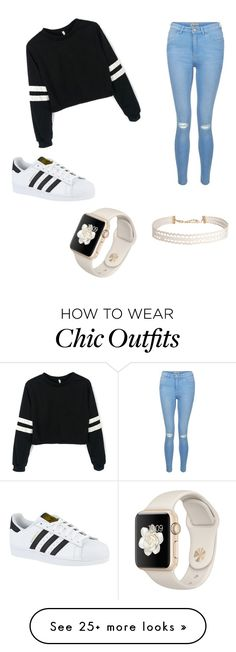 """Untitled #1"" by aguvlastelica on Polyvore featuring New Look, adidas and Humble Chic"