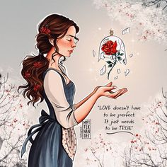 "Carolin's Fineart (@carolinsfineart) on Instagram: ""Scanned version of Belle prints are available, just dm me! #disneyartfeed #disneyart_shout…"""