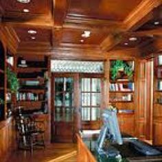 Coffered wooden ceilings