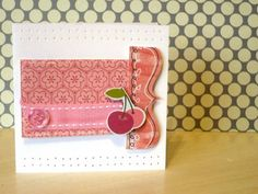 Cartão artesanal com sobras de trabalhos de scrapbook {using scrapbooking left overs} #PAP #DIY #Recicle #cardmaking #papercraft #tutorial