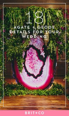 Bookmark this for agate + geode wedding ideas for your special day.