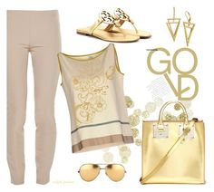 Leggings by outfitsfashion4 on Polyvore featuring moda, SIYU, The Row, Tory Burch, Sophie Hulme and Linda Farrow