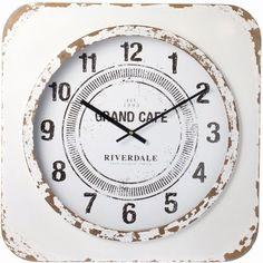 Riverdale Wandklok Vintage wit 60cm