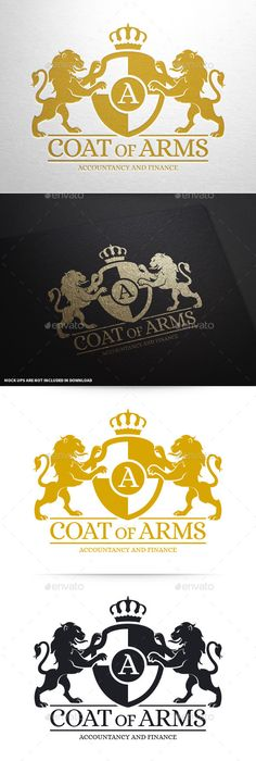 Coat Of Arms Logo Template — Photoshop PSD #investment #logo • Available here → https://graphicriver.net/item/coat-of-arms-logo-template/10369169?ref=pxcr