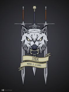 Great House sigils/logos with house name and motto. 100% vector made in Adobe Flash.
