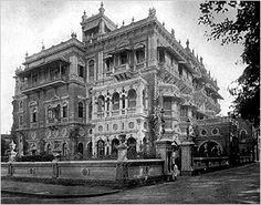 The Tata Mansion in Bombay - circa 1894
