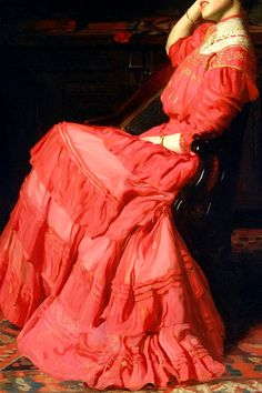 INCREDIBLE DRESSES IN ART (39/∞)A Rose by Thomas Anshutz, 1907