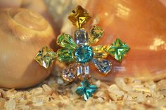 Vintage Pastel Rhinestone Brooch. Starting at $10 on Tophatter.com!