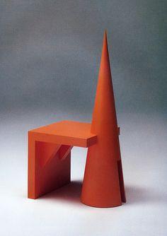 Chair, 1988 by Ikuyo Mitsuhashi Funky Furniture, Design Furniture, Unique Furniture, Chair Design, Colorful Furniture, Muebles Art Deco, Memphis Design, Take A Seat, Furniture Inspiration