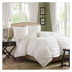 Madison Park Catalina 4-piece Comforter Set   Overstock.com $110 (with red sheets)