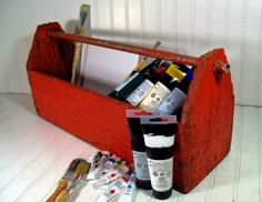 Crusty Rusty Wooden Tool Tote