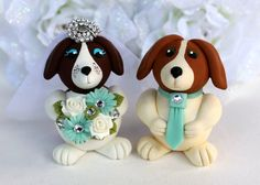 Hey, I found this really awesome Etsy listing at https://www.etsy.com/listing/175493150/beagle-dog-wedding-cake-topper-tiffany