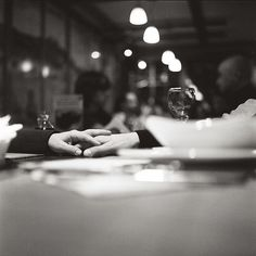 When we go to dinner, no cell phones, remember. Our hands shouldk be engaged across the table instead!