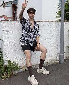 walterbarrettenjoy - 0 results for vintage outfits Korean Fashion Men, Fashion Mode, Retro Fashion Mens, Male Summer Fashion, Boys Fashion Style, Male Street Fashion, Fashion Casual, Boys Style, Retro Men