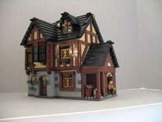 lego castle moc   LEGO MOC: Village Houses