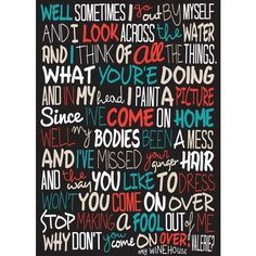 Amy Winehouse Valerie Poster, Song Lyrics Print, Music Poster, Music... ❤ liked on Polyvore featuring home, home decor, wall art, quote wall art, calligraphy wall art, music themed wall art, word wall art and quote posters