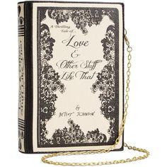 Betsey Johnson Book of Love Shoulder Bag ($68) ❤ liked on Polyvore featuring bags, handbags, shoulder bags, shoulder bag handbag, shoulder bag purse, betsey johnson, betsey johnson purses and chain shoulder bag