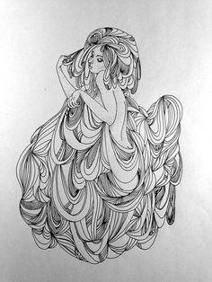 Doodle - woman - hair