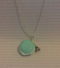 pastel mint green french macaroon polymer clay by TheDottyBug, £4.99