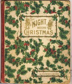 ✜ Rare 1883 The Night Before Christmas Book by Clement C. Moore.