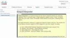 Monitoreo de Red y Computación: Output Interpreter de Cisco para solucionar posibl...